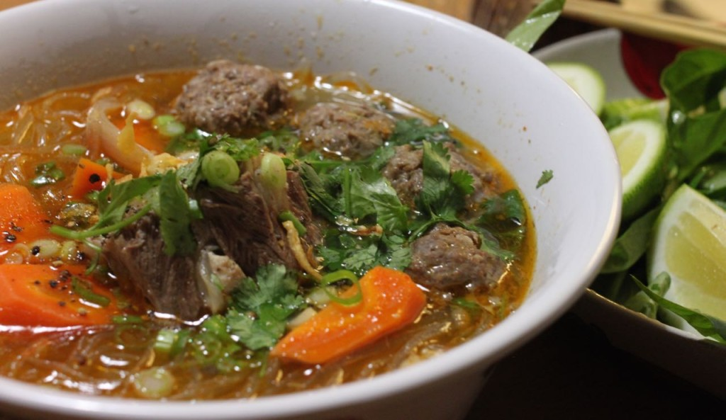 Spicy meatball oxtail noodles recipe